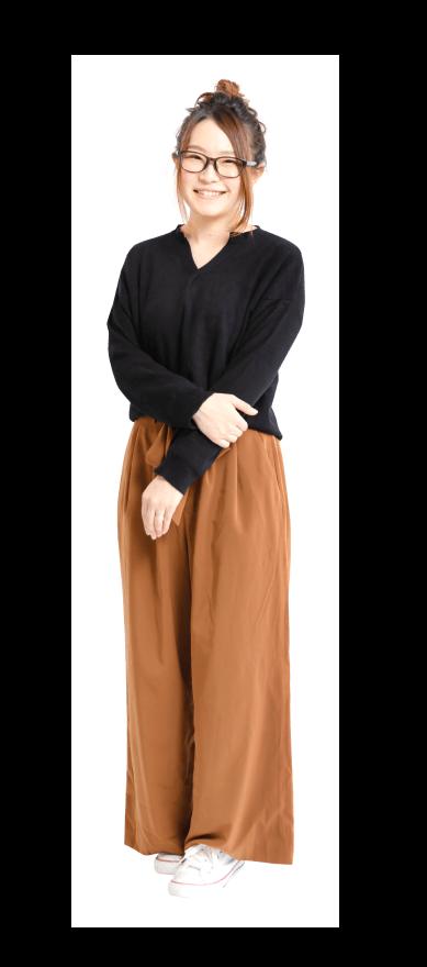 山本 有紗先生の私服